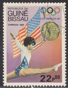 Guinea-Bissau 615 CTO 1984 Flag, Medal & Olympic Winner