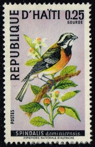 Haiti #614 Stripe-headed Tanager; Used (5Stars)