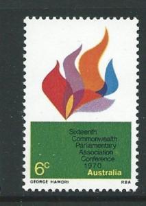 AUSTRALIA SG473 1970 COMMONWEALTH PARLIAMENTARY ASSCOIATION MNH