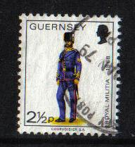 Guernsey  1974  Used Miltia  2 1/2 p
