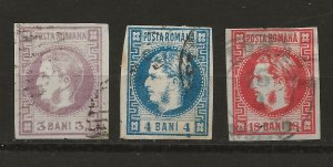 Romania 34-36 Used VF 1868 SCV $117.50 (jr)