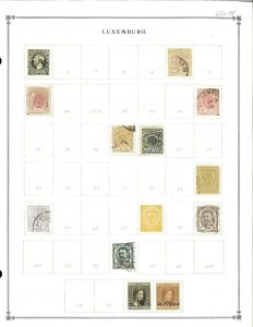 Luxembourg 1944-1999M & U Hinged on Scott International Pages