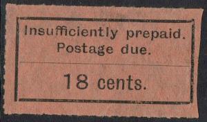 ZANZIBAR 1926 POSTAGE DUE TYPE SET 18C BLACK/ORANGE