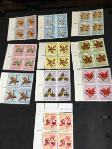 Nicaragua 2015 Sc. #859-68 Mint VF-NH Cat. $20. 1969 ILO Ovpt. Set of Ten Bks. 4