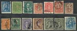 $Argentina Sc#57-67 used, F-VF, complete set, some small faults, Cv. $71.50