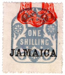 (I.B) Jamaica Revenue : Duty Stamp 1/- (die R)