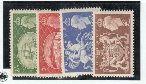 GREAT BRITAIN # 286-289 VF-MH  KCV1 ISSUES CAT VALUE $107