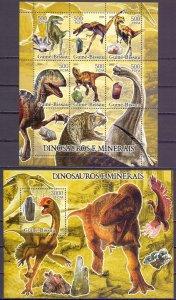Guinea-Bissau. 2005. ml 3290-95, bl547. Dinosaurs. MNH.