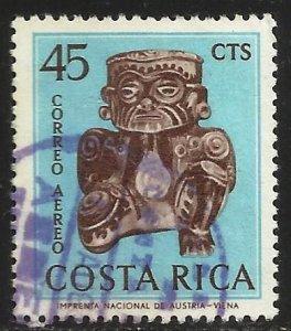 Costa Rica Air Mail 1963 Scott# C383 Used