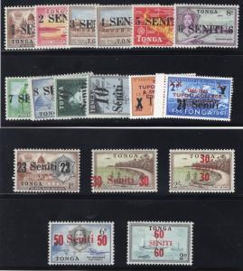 Tonga #'s 158-174(17) - Unused - O.G.