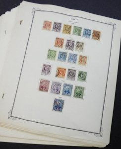 EDW1949SELL : HAITI Beautiful in-depth collection on Scott pgs between 1881-1970