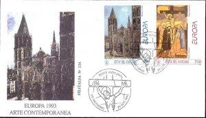 1993 - Vatican Sc# 932-933 - FDC