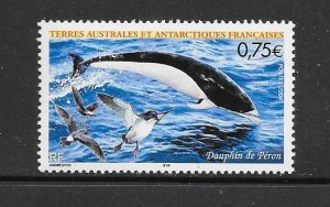 FISH - FRENCH SOUTHERN ANTARCTIC TERRITORY #334 DOLPHIN   MNH