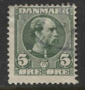 Denmark - Scott 70 - King Christian IX Issue -1905 - Used - Single 5o Stamp