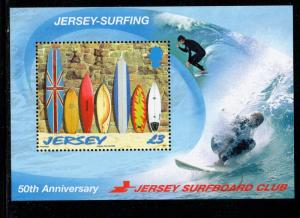 Jersey Sc 1380 2009 Surfing Club stamp sheet mint NH