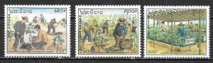 Laos 1049-51 Arbor Day set MNH (lib)