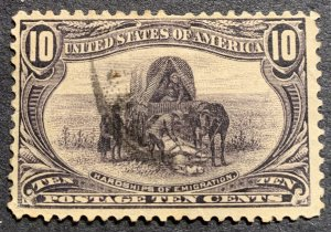 #290 – 1898 10c Trans-Mississippi Exposition.  Used average.