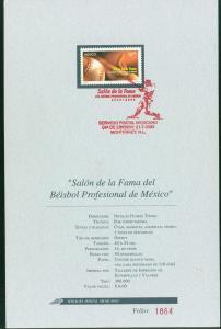 MEXICO 2318 FDTech Brochure Baseball Hall of Fame 30th Anniv