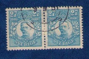 Sweden Sc #85 (Pair) Gustav 27ore Used VF