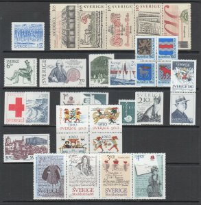 Sweden Sc 1446/1505a MNH. 1983-84 issues, 12 complete sets, , fresh, VF