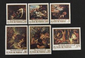 Romania 1970 #2198-2203(6), Paintings, MNH.