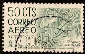 MEXICO C220En, 50cts 1950 Definitive 2nd Prtg wmk 300 PERF 11 USED. VF. (1220)