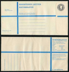 RP89 QEII 3/4 Registered Envelope Size K Mint