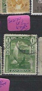ZANZIBAR (P1811B)  1R  BOAT  SG 270   VFU