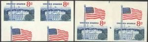 1338Gh, TWO DIFF IMPERFORATE PAIR ERRORS - VF NH