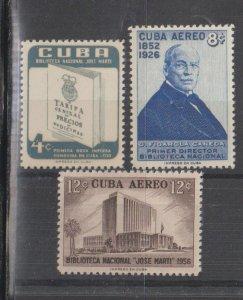 Cuba SC 582, C167-8  Mint Never Hinged