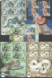 AB1063 2015 SAMOA WWF FAUNA REPTILES SNAKES PACIFIC TREE BOA FULL 5KB FIX