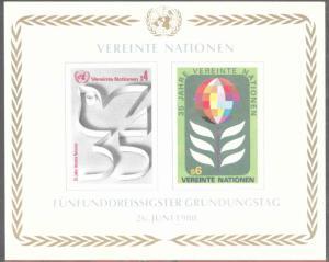 United Nations UN  Geneva Scott 95 MNH** 35th Anniversary sheet