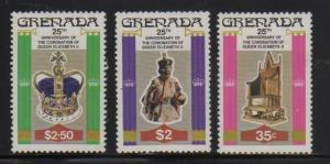 Grenada MNH 873-5 25th Anniversary Of Coronation Of QE II