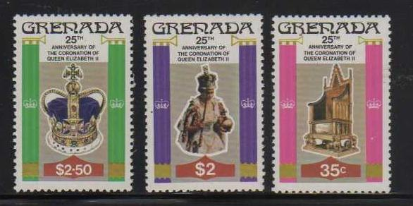 Grenada MNH 873-5 25th Anniversary Of Coronation Of QE II