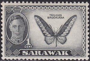Sarawak 180 Butterfly Troides Brookiana 1950
