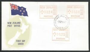 NEW ZEALAND 1984 FRAMA TRIAL set on commem FDC, cat NZ$165.................52733