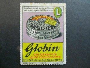 A4P4F55 Reklamemarke Globus mint no gum