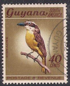 Guyana 1968 QE2 40ct Great Kiskadee Used SG 457 ( F389 )