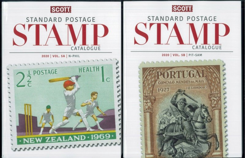 NEW 2020 Scott Standard Postage Stamp Catalogue Worldwide N-SAM Volume 5 Set
