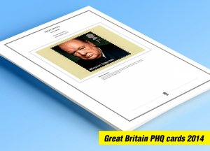 COLOR PRINTED GREAT BRITAIN 2014 PHQ CARDS STAMP ALBUM PAGES (103 illust. pages)