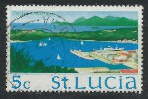 St Lucia 1970 - 5c Castries harbour - SG279 used
