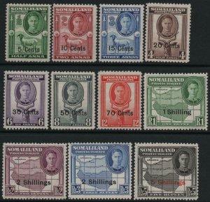 SOMALILAND-1951 Set to 5/- on 5r Sg 125-135 LIGHTLY MOUNTED MINT V39038