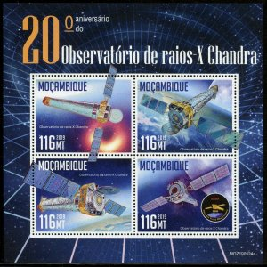 MOZAMBIQUE 2019 20th ANNIVERSARY OF  CHANDRA X-RAY OBSERVATORY SHEET MINT NH