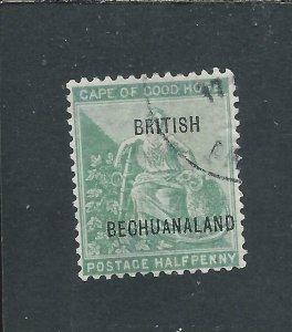 BECHUANALAND 1897 ½d YELLOW-GREEN LINES 10½mm APART FU SG 58 CAT £75