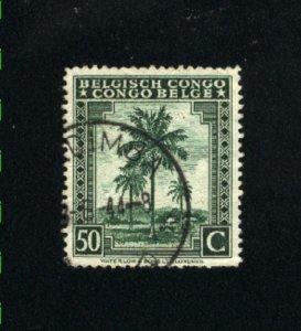 Belgian Congo #193  used VF 1942 PD