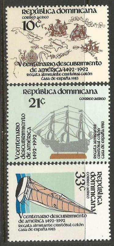 Dominican Republic C388-90 MNH COLUMBUS C364