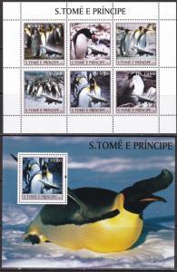 Sao Tome and Principe, Fauna, Birds, Penguins MNH / 2003