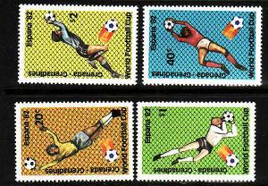 Grenada Grenadines-Sc#465-8-unused NH set-Sports-Soccer World Cup-Spain