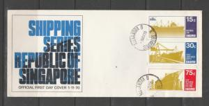 Singapore FDC 1970 Shipping, Unaddressed, SG 143/5