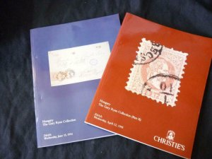 2 x CHRISTIE'S AUCTION CATALOGUES 1994/5 HUNGARY THE GARY RYAN COLLECTION 1 & 2